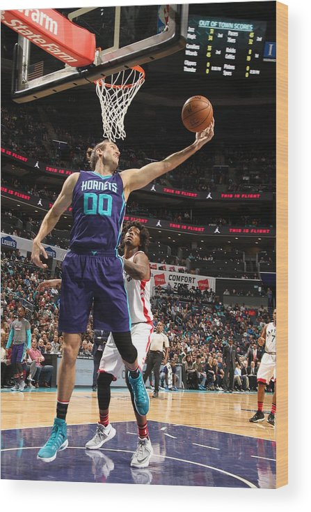 Nba Pro Basketball Wood Print featuring the photograph Spencer Hawes by Kent Smith