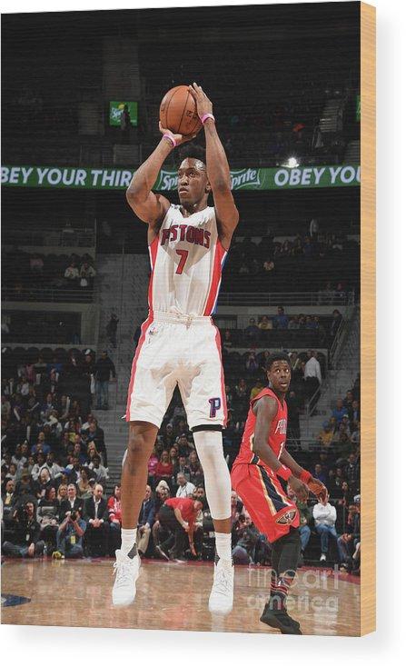 Nba Pro Basketball Wood Print featuring the photograph Stanley Johnson by Chris Schwegler