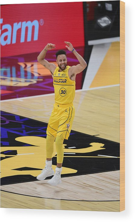 Atlanta Wood Print featuring the photograph Stephen Curry by Adam Hagy