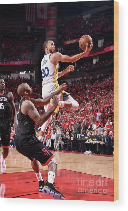 Playoffs Wood Print featuring the photograph Stephen Curry by Bill Baptist