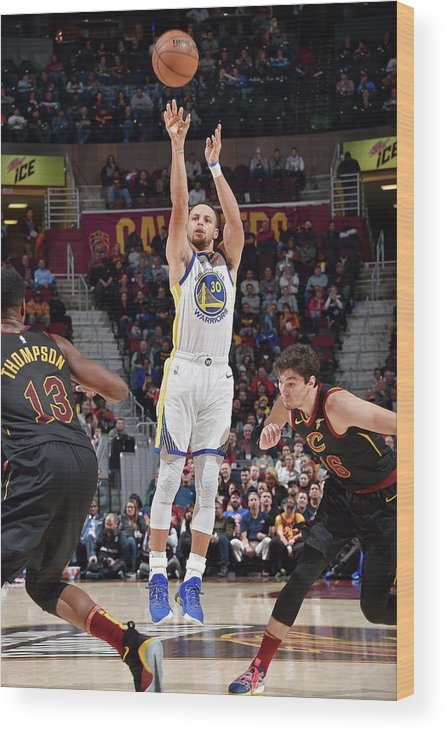 Nba Pro Basketball Wood Print featuring the photograph Stephen Curry by David Liam Kyle