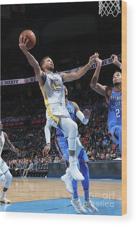 Nba Pro Basketball Wood Print featuring the photograph Stephen Curry by Layne Murdoch
