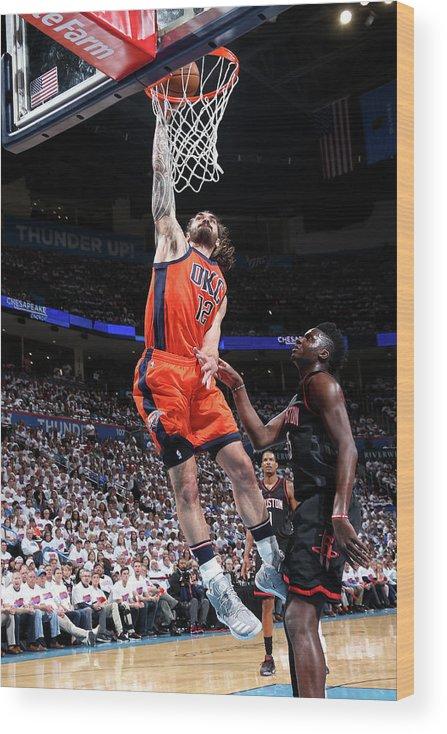 Playoffs Wood Print featuring the photograph Steven Adams by Layne Murdoch