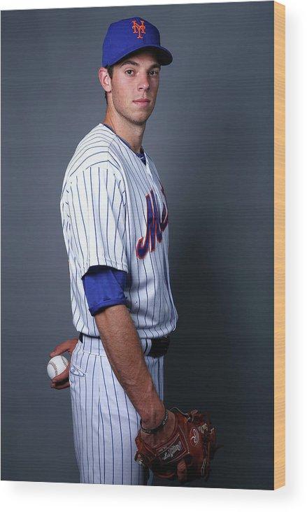 American League Baseball Wood Print featuring the photograph Steven Matz by Elsa