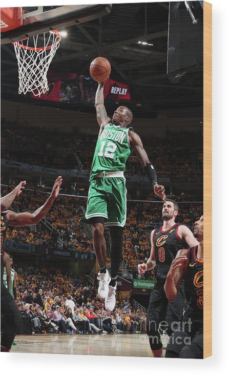 Playoffs Wood Print featuring the photograph Terry Rozier by Nathaniel S. Butler