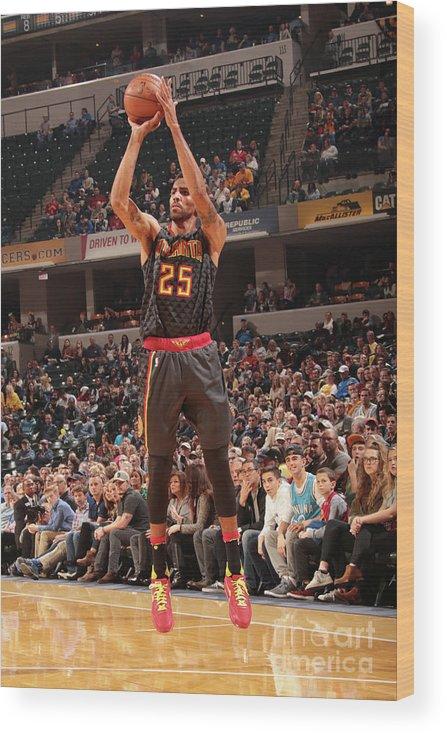 Nba Pro Basketball Wood Print featuring the photograph Thabo Sefolosha by Ron Hoskins