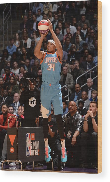 Event Wood Print featuring the photograph Tobias Harris by Andrew D. Bernstein