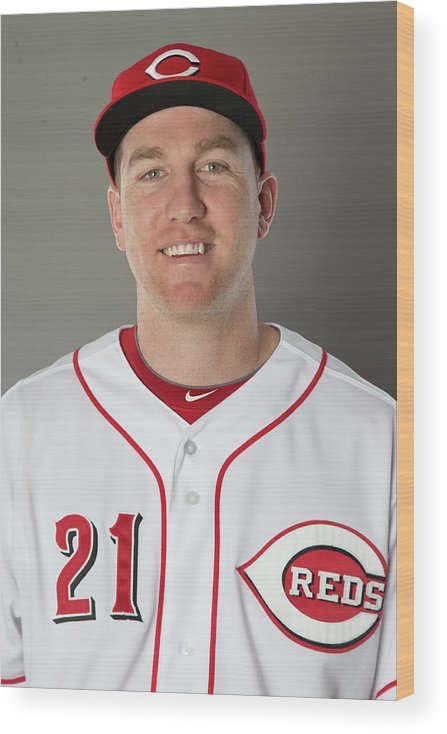 People Wood Print featuring the photograph Todd Frazier by Mike Mcginnis