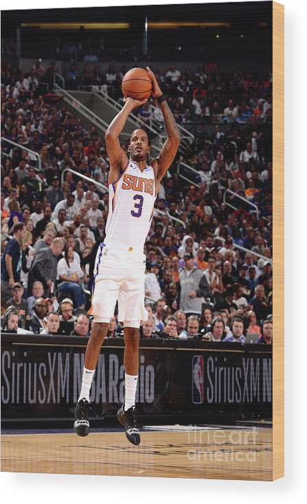 Nba Pro Basketball Wood Print featuring the photograph Trevor Ariza by Barry Gossage