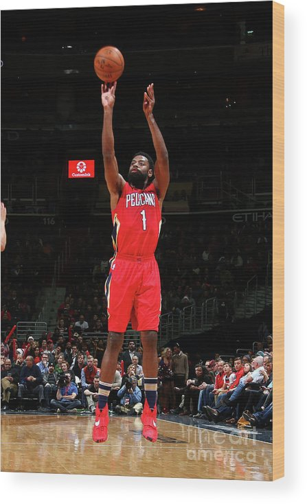 Nba Pro Basketball Wood Print featuring the photograph Tyreke Evans by Ned Dishman