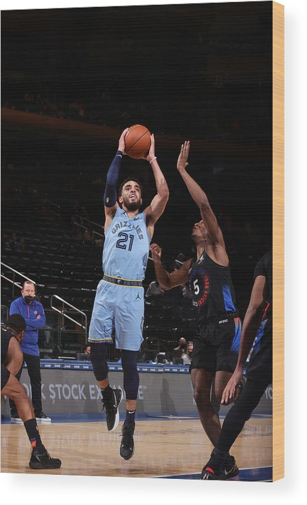 Nba Pro Basketball Wood Print featuring the photograph Tyus Jones by Nathaniel S. Butler