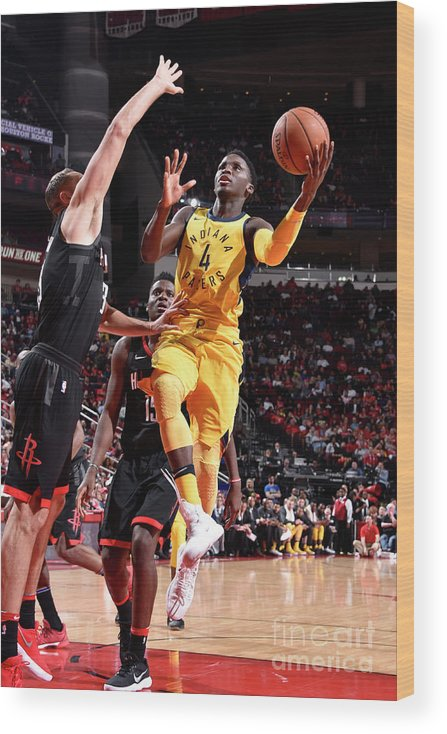 Nba Pro Basketball Wood Print featuring the photograph Victor Oladipo by Bill Baptist