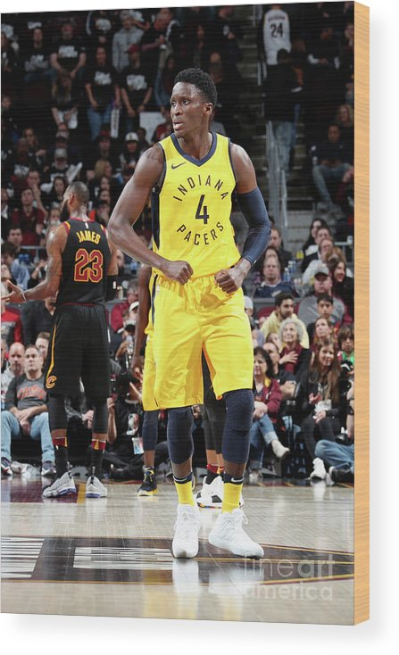 Playoffs Wood Print featuring the photograph Victor Oladipo by Nathaniel S. Butler