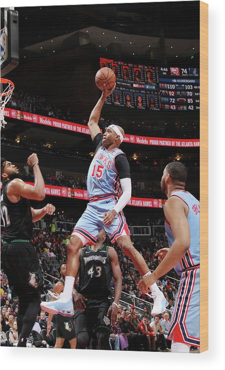 Atlanta Wood Print featuring the photograph Vince Carter by Jasear Thompson