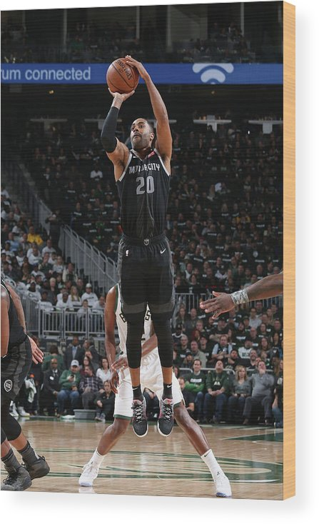 Playoffs Wood Print featuring the photograph Wayne Ellington by Gary Dineen