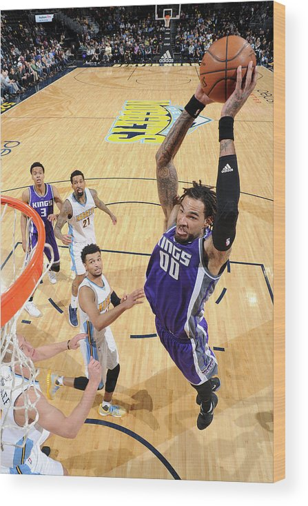 Nba Pro Basketball Wood Print featuring the photograph Willie Cauley-stein by Garrett Ellwood