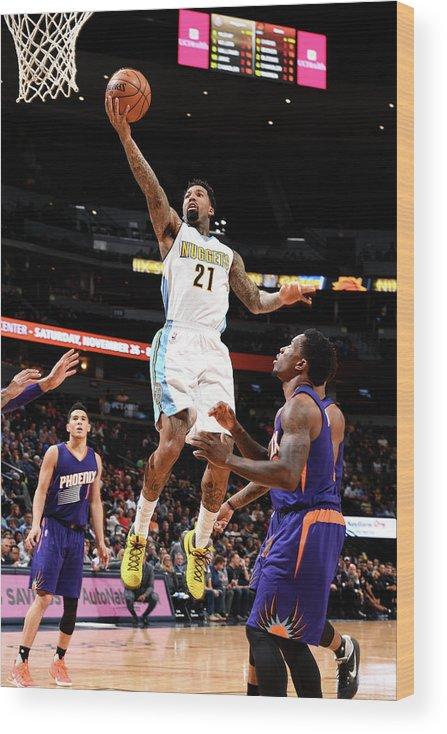 Nba Pro Basketball Wood Print featuring the photograph Wilson Chandler by Garrett Ellwood