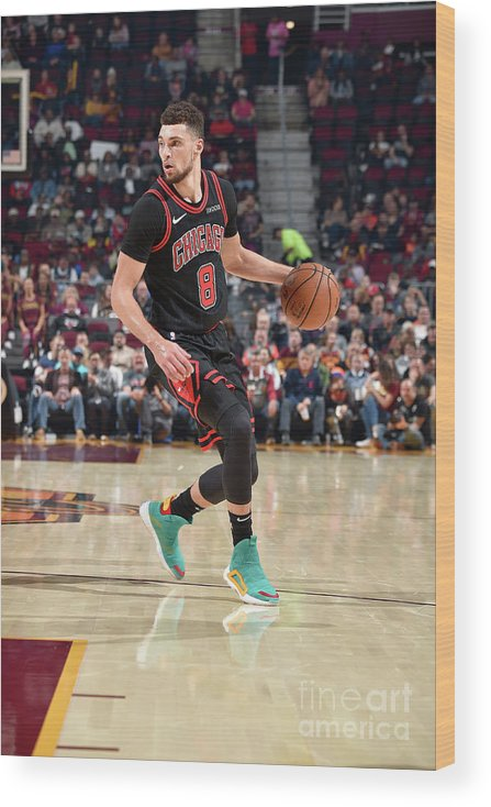 Chicago Bulls Wood Print featuring the photograph Zach Lavine by David Liam Kyle