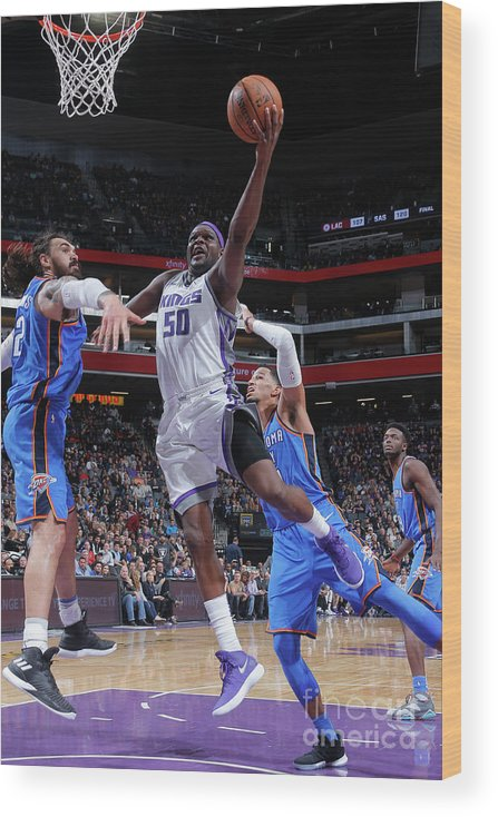 Nba Pro Basketball Wood Print featuring the photograph Zach Randolph by Rocky Widner