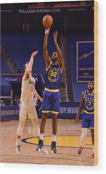 San Francisco Wood Print featuring the photograph Andrew Wiggins by Noah Graham