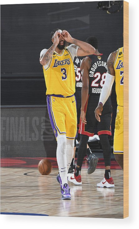 Playoffs Wood Print featuring the photograph Anthony Davis by Andrew D. Bernstein