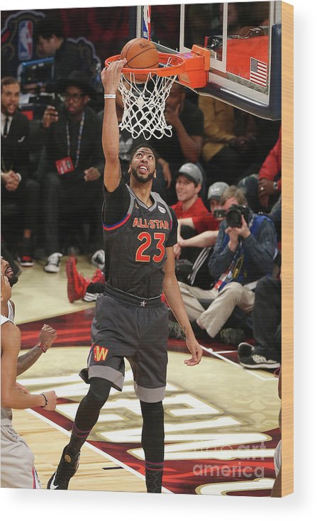 Event Wood Print featuring the photograph Anthony Davis by Layne Murdoch