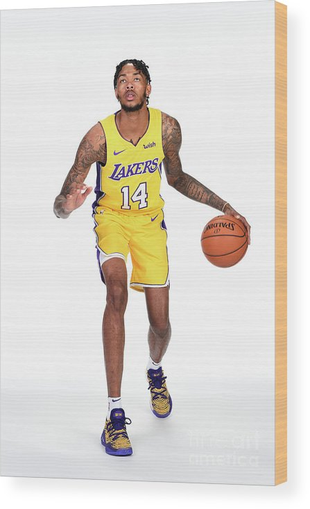 Media Day Wood Print featuring the photograph Brandon Ingram by Andrew D. Bernstein