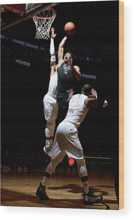 Nba Pro Basketball Wood Print featuring the photograph Giannis Antetokounmpo by Nathaniel S. Butler
