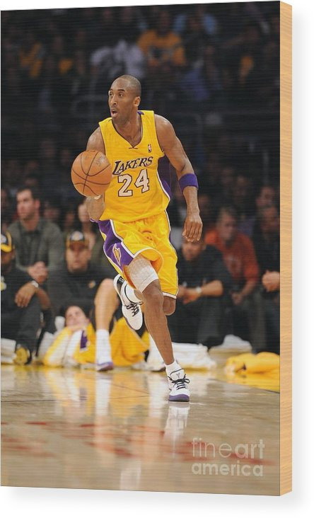 Upcourt Wood Print featuring the photograph Kobe Bryant by Noah Graham