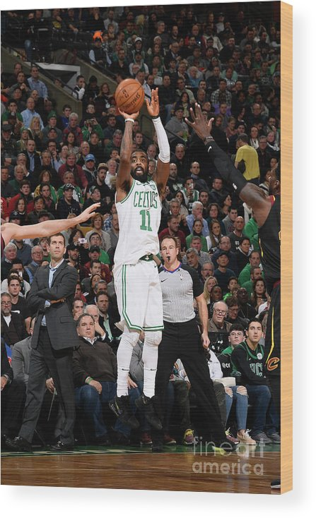Nba Pro Basketball Wood Print featuring the photograph Kyrie Irving by Brian Babineau
