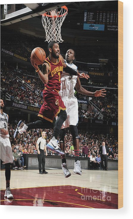 Nba Pro Basketball Wood Print featuring the photograph Kyrie Irving by David Liam Kyle