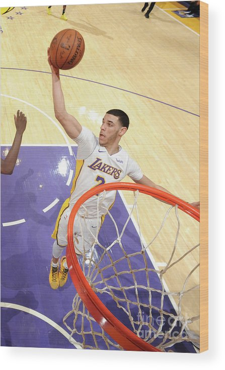 Nba Pro Basketball Wood Print featuring the photograph Lonzo Ball by Andrew D. Bernstein