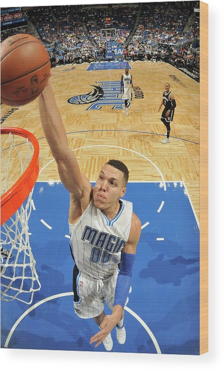 Nba Pro Basketball Wood Print featuring the photograph Aaron Gordon by Fernando Medina