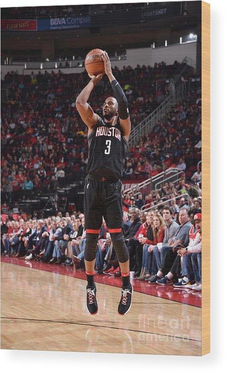 Nba Pro Basketball Wood Print featuring the photograph Chris Paul by Bill Baptist
