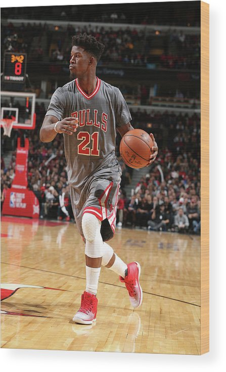 Nba Pro Basketball Wood Print featuring the photograph Jimmy Butler by David Sherman