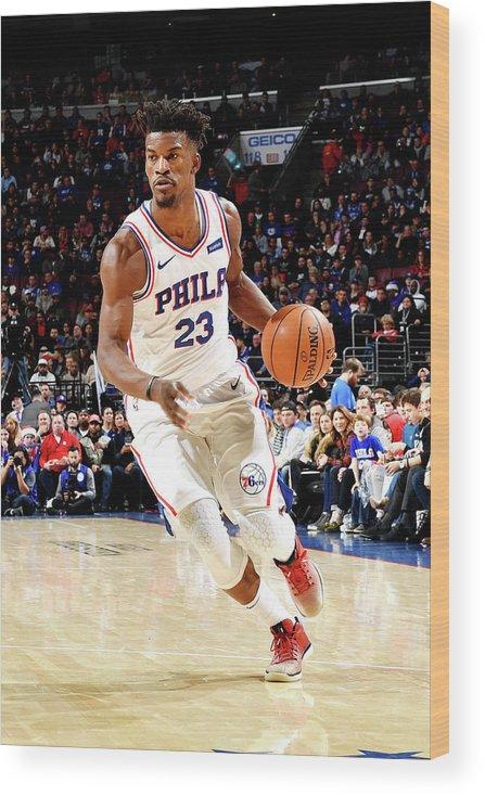 Nba Pro Basketball Wood Print featuring the photograph Jimmy Butler by Jesse D. Garrabrant