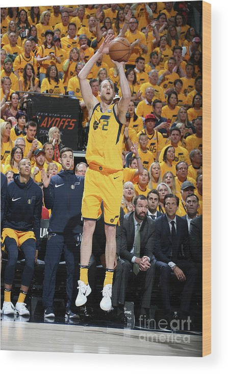 Playoffs Wood Print featuring the photograph Joe Ingles by Melissa Majchrzak