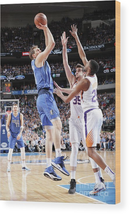 Nba Pro Basketball Wood Print featuring the photograph Dirk Nowitzki by Glenn James