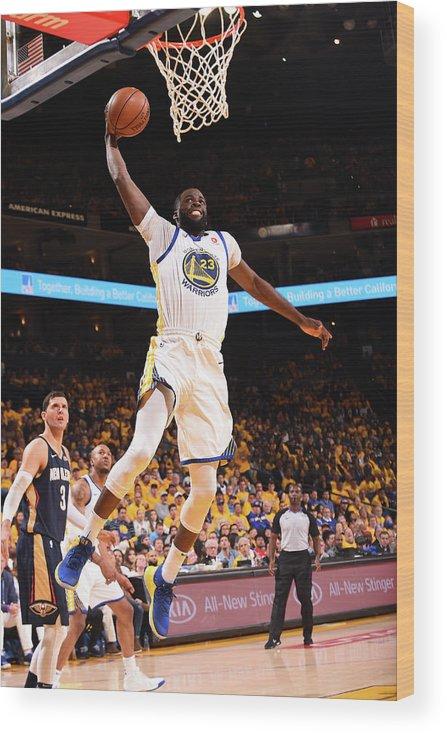Playoffs Wood Print featuring the photograph Draymond Green by Noah Graham