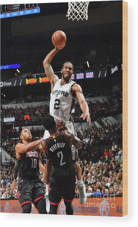 Playoffs Wood Print featuring the photograph Kawhi Leonard by Jesse D. Garrabrant