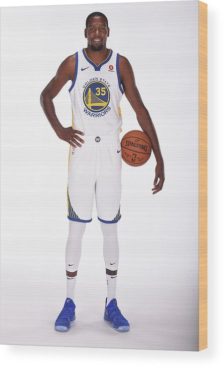 Media Day Wood Print featuring the photograph Kevin Durant by Noah Graham