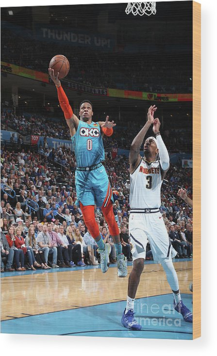 Nba Pro Basketball Wood Print featuring the photograph Russell Westbrook by Zach Beeker