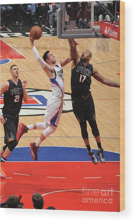 Nba Pro Basketball Wood Print featuring the photograph Austin Rivers by Andrew D. Bernstein