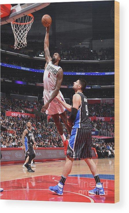Nba Pro Basketball Wood Print featuring the photograph Deandre Jordan by Andrew D. Bernstein