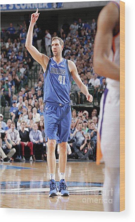 Nba Pro Basketball Wood Print featuring the photograph Dirk Nowitzki by Glenn James