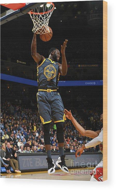 Nba Pro Basketball Wood Print featuring the photograph Draymond Green by Noah Graham