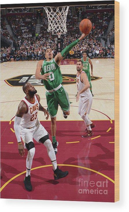Nba Pro Basketball Wood Print featuring the photograph Jayson Tatum by Jesse D. Garrabrant