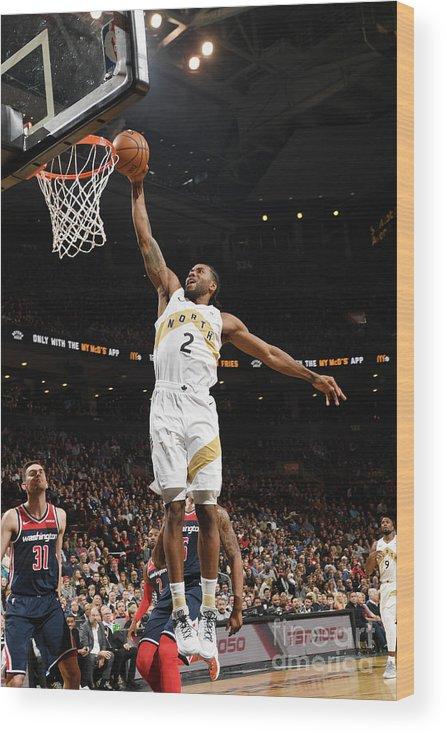 Nba Pro Basketball Wood Print featuring the photograph Kawhi Leonard by Ron Turenne