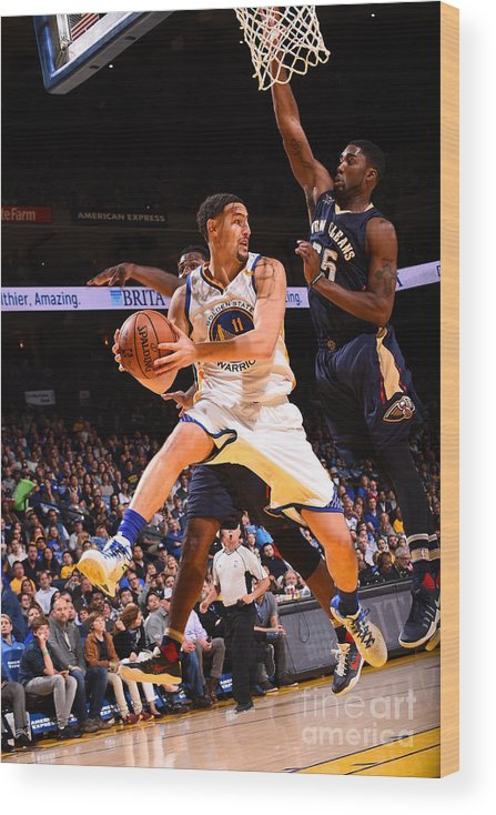 Nba Pro Basketball Wood Print featuring the photograph Klay Thompson by Noah Graham
