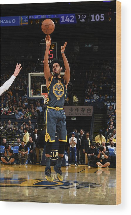 Nba Pro Basketball Wood Print featuring the photograph Quinn Cook by Noah Graham